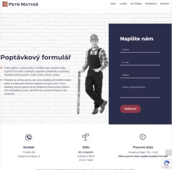 Petr Matyáš – firemní prezentace